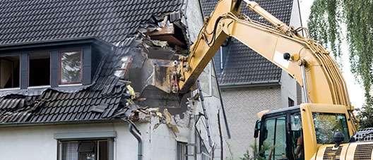 sloop van gebouwen